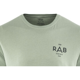 Rab Stance Geo Lyhythihainen T-paita Miehet, silverpine
